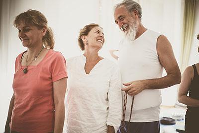 Yoga Le Nuvole - Incontro con Dr. Omanand (Paramanad Institute of yoga - Indore) Silvia e Palmerino